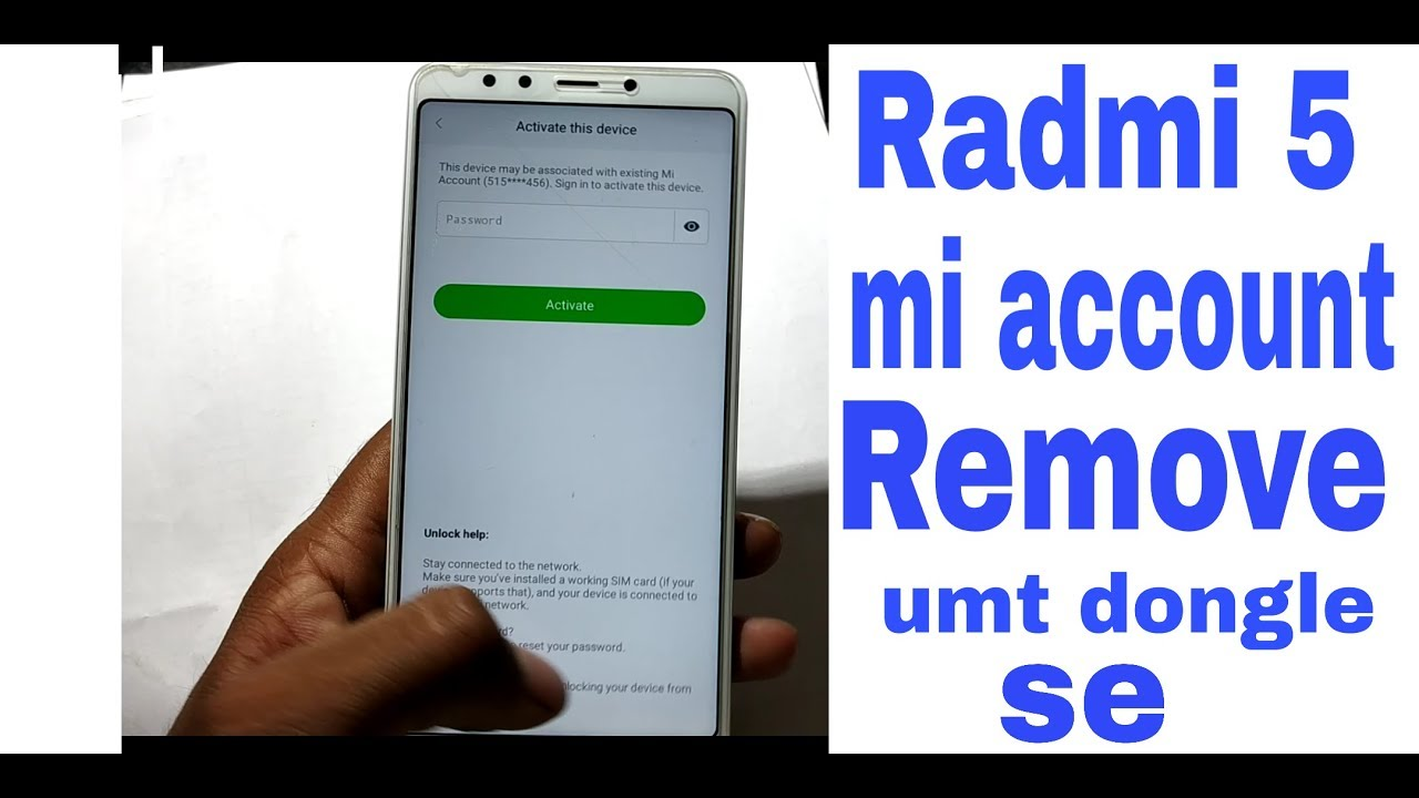RADMI 5 MI ACCOUNT REMOVE UMT SE