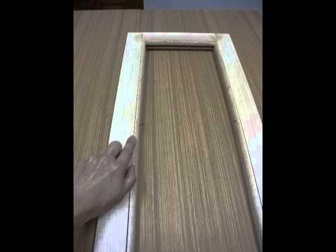 การใส่กระจกในบานประตูและหน้าต่างไม้