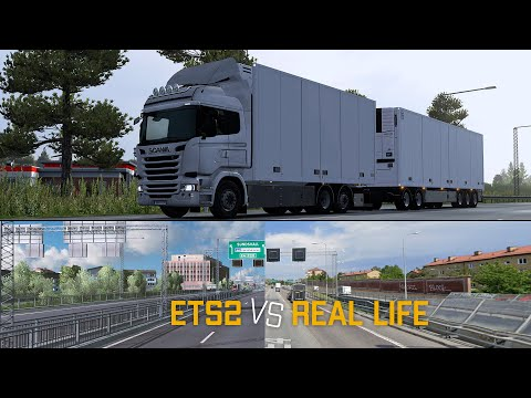 ETS2 1.36 - Scania R490 Tandem - Driving in Sweden - ETS2 vs Real Life - DC13 Sound - ProMods v2.43 |