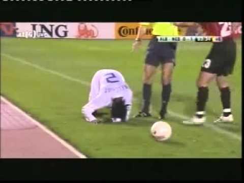 Albania vs The Netherlands - Firework thrown at Melchiot
