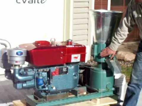Diesel pellet mill starting procedure