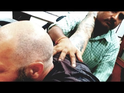 World's Greatest Head Massage - The crazy barber in Thamel Nepal