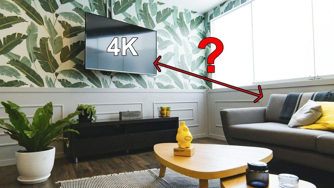 Qual a dist ncia ideal para assistir a uma tv 4k - Distancia para ver tv led ...