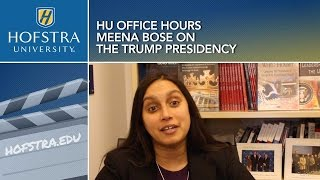 HU Office Hours: Meena Bose on the Trump Presidency