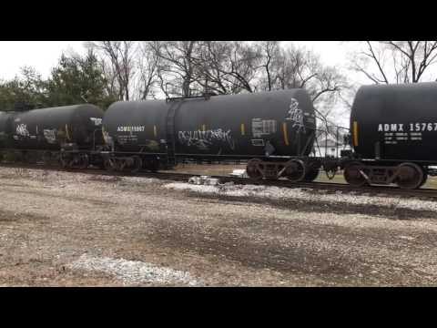 CSX Southbound Freight Vincennes Indiana Alice Station