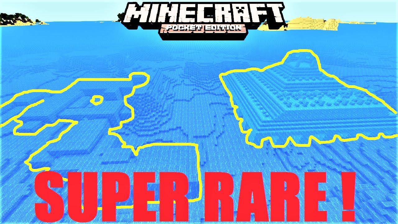 Minecrraft PE - OCEAN MONUMENT & STRONGHOLD UNDERWATER ! SUPER RARE SEED !   MCPE 1111.1111