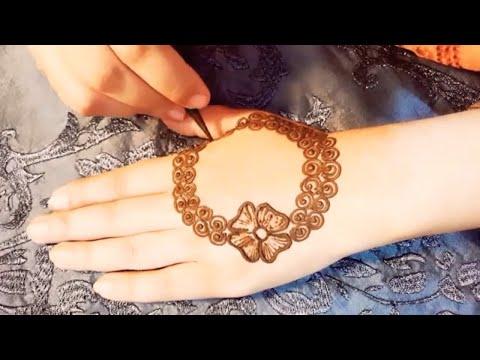 Beautiful and simple mehndi design tutorial thumbnail
