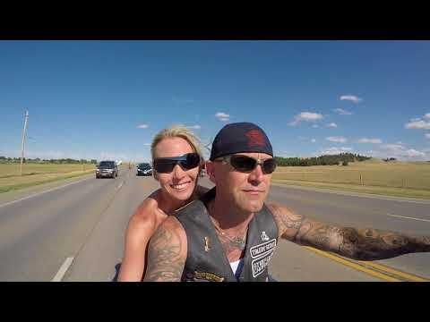 Sturgis 2017 Riding Downtown from the Buffalo Chip