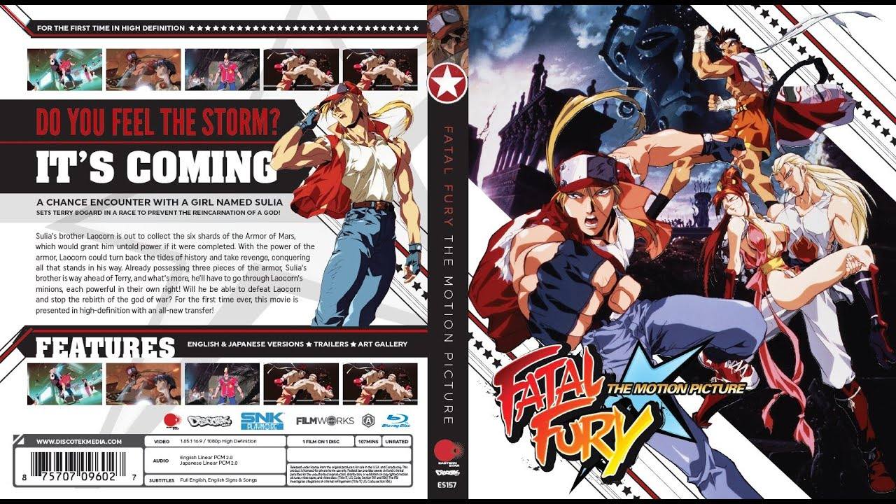 Fatal Fury Ova 3 The Motion Picture Espanol Blu Ray Hd Youtube