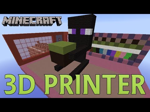 Minecraft - 3D Printer in Your Inventory Print Anywhere with Any Blocks