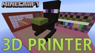 Minecraft - 3D Printer in Your Inventory (Print Anywhere with Any Blocks)