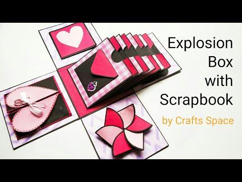 Explosion Box with Scrapbook/Album Tutorial | Explosion Box Album Tutorial | By Crafts Space