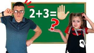 Vania and Masha Good Vs Bad Student Learning at School
