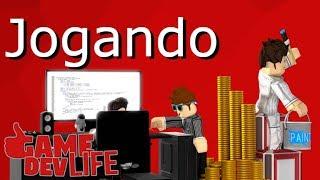 Jogando Game Dev Life - ROBLOX