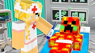 Saving BABY YOUTUBERS in Minecraft as a Nurse!