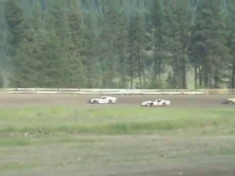 Eagle Track Raceway Modified Heat Race Part 2 (Mark Weaver Spin) May 31st 2014