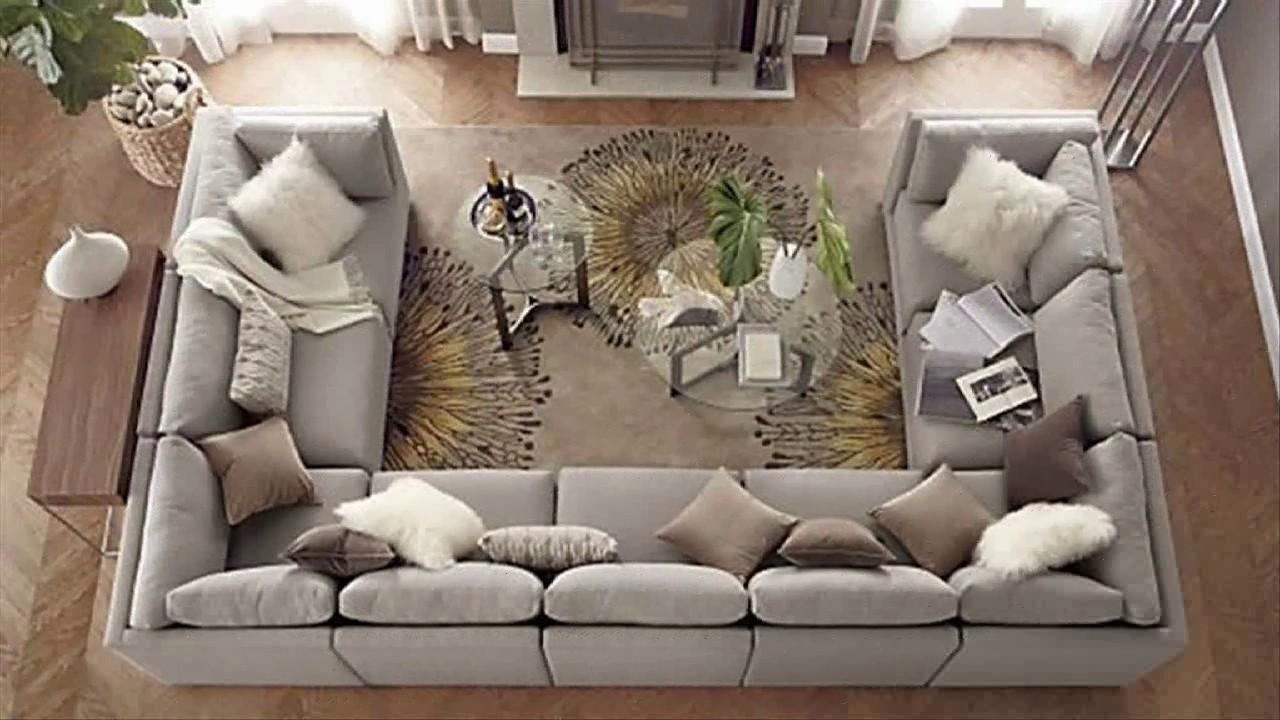 Awesome U Shaped Sectional Sofa  YouTube