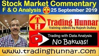 Stock Market Report & Commentary, F&O Data Analysis 25 September 2019