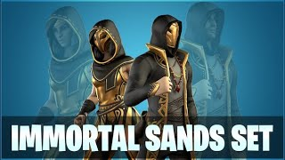 *NEW* IMMORTAL SANDS SKIN SET IN FORTNITE IS AMAZING! (TIMELESS WARRIORS)