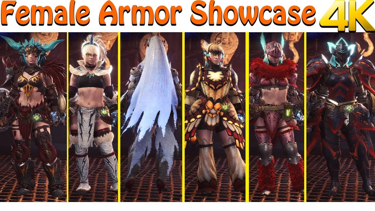 4k] monster hunter world | every armor set showcase - youtube
