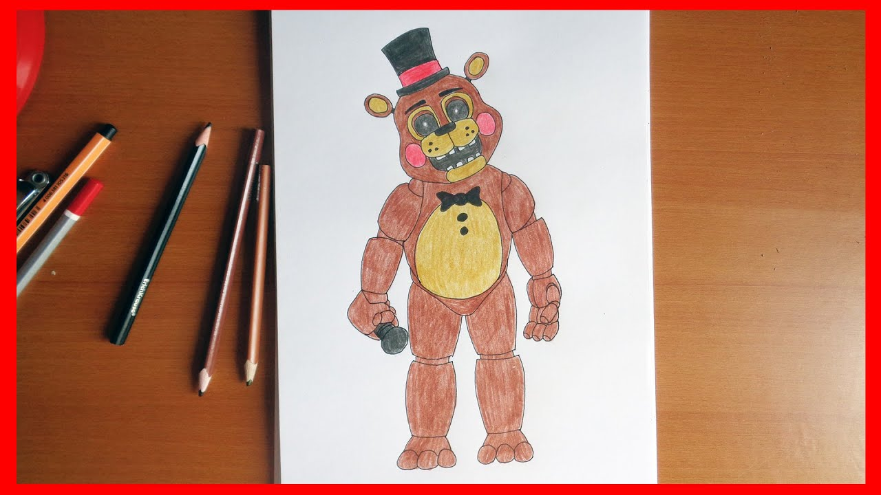 How to draw toy freddy five nights at freddy s characters youtube