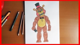 How to draw Toy Freddy Five Nights at Freddy s characters