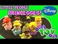 Fisher-Price Little People Disney Princesses! Ariel Belle Rapunzel! Review by Bin's Toy Bin