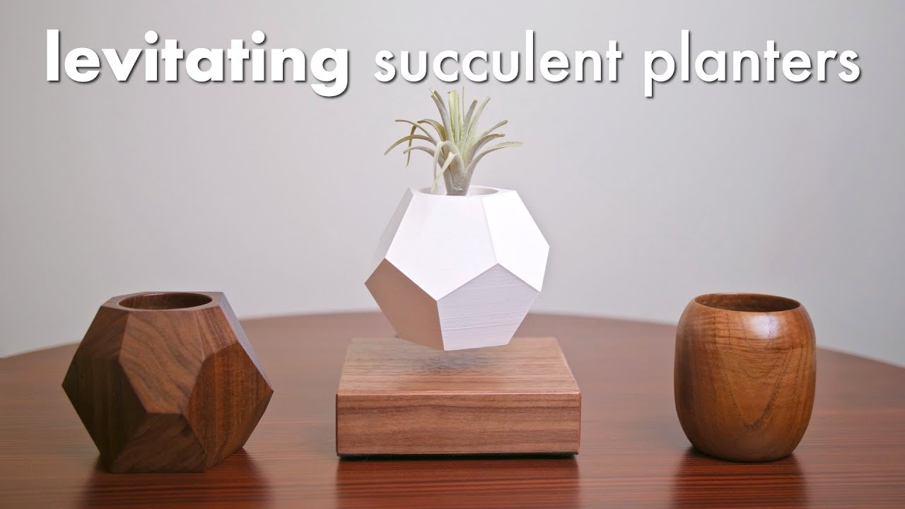 DIY Levitating Succulent Planters Made 3 Ways // Turning, 3D Printing,  Woodworking
