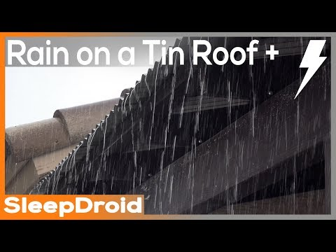►10 hours of HEAVY RAIN and THUNDER on a Tin Roof HD VIDEO, heavy rain on metal roof, thunderstorm