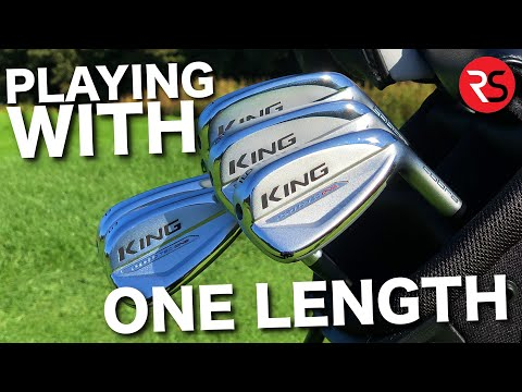 Playing Golf With ONE LENGTH Cobra Forged Tec Irons!