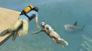 GTA 5 Water Ragdolls and Jumps episode 15