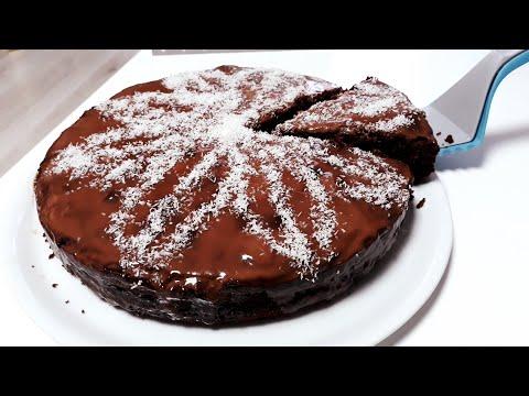 gâteau-moelleux-léger-au-chocolat-nappage-choco-&-coco---rapide-et-facile