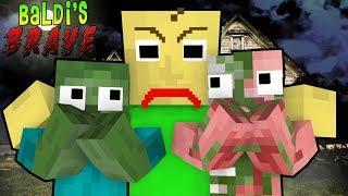 Monster School Baldiand39s Brave Challenge - Minecraft Animation