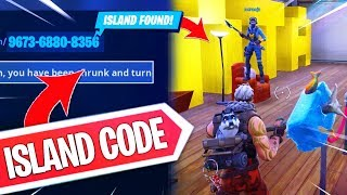 SO YOU CAN USE AN ISLAND CODE!! SHARE YOUR FORTNITE ISLAND in FORTNITE CREATIVE!