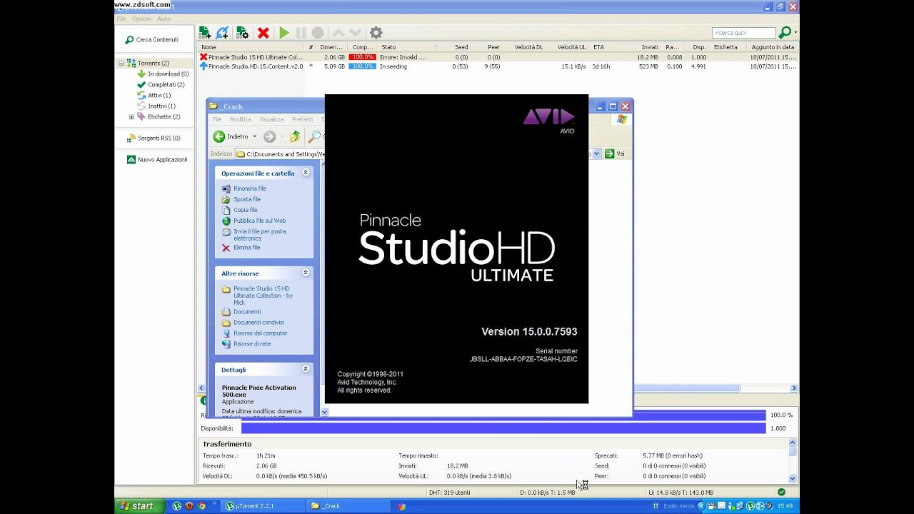 pinnacle studio 15 hd gratis italiano