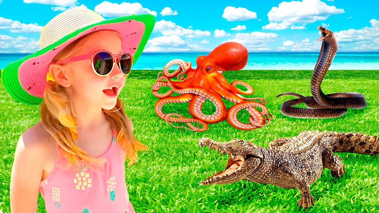 Nastya y su aventura con juguetes vivos en el mar