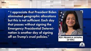 Democrats slam President Biden for not immediately lifting refugee cap