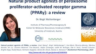 The interplay of Natural Products, Nutrition, Diabetes, Obesity and the nuclear receptor PPARgamma