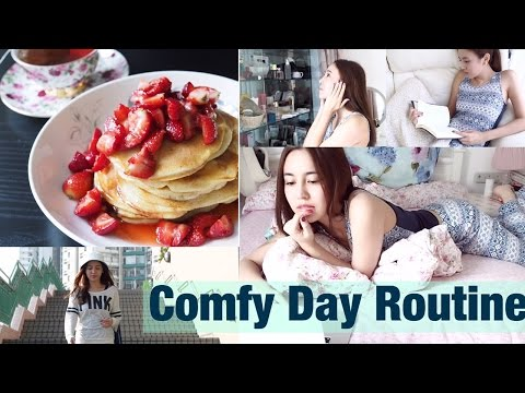 My COMFY DAY Routine | Holiday Breakfast + Makeup