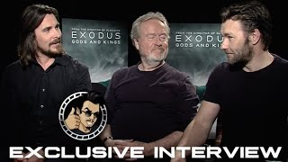 Christian Bale, Ridley Scott, and Joel Edgerton Interview - Exodus: Gods and Kings (HD) 2014