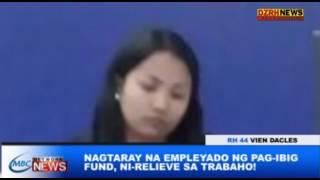 NAGTARAY NA EMPLEYADO NG PAG-IBIG FUND, NI-RELIEVE SA TRABAHO!