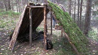 Шалаш в лесу 2.0 / БУШКРАФТ
