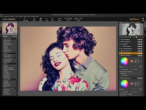 How to create a vintage retro effect with Lightzone Darkroom software