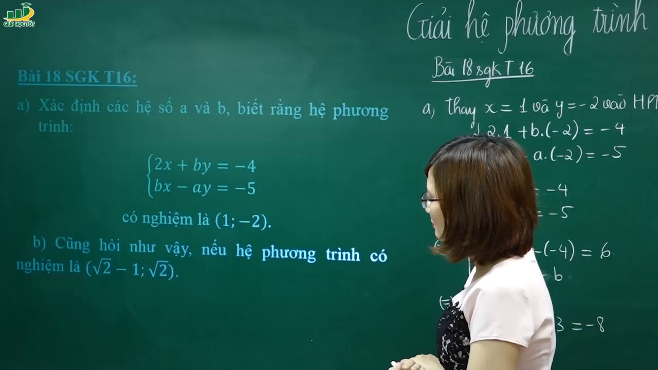 Toán lớp 9 – Giải bài 18 19 sgk trang 16 toán lớp 9 tập 2|Giải hệ phương trình bằng phương pháp thế