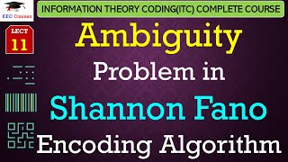 Shannon Fano Encoding Algorithm - Solved Ambiguity Problem Ques(ITC Lectures Hindi)
