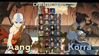 Avatar: The Last Airbender/Legend of Korra Fighting Game Mockup