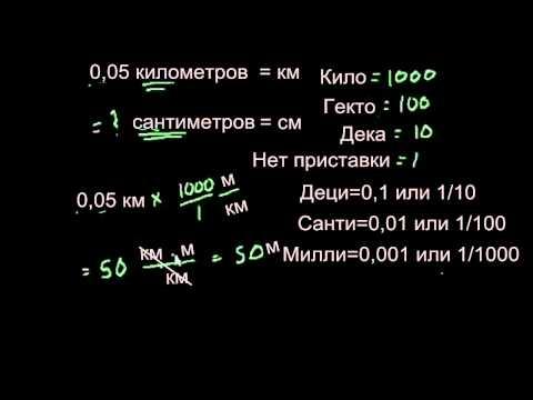 Перевод единиц измерения метрической системы