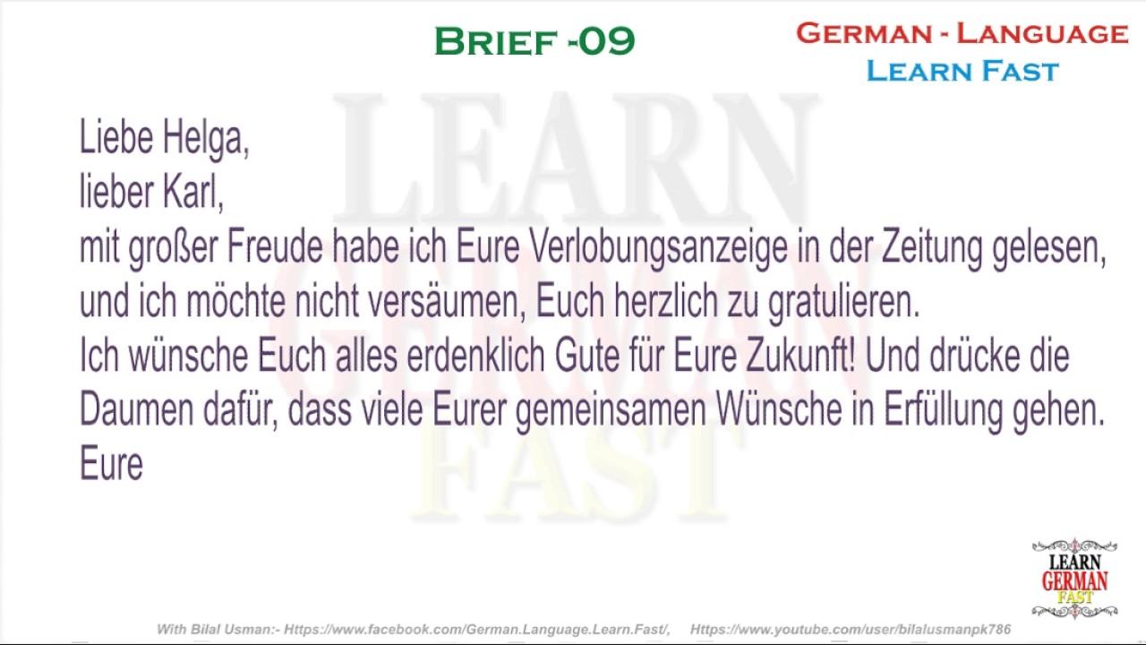 German Brief 09 A1 A2 B1 B2 C1 C2 Youtube