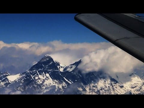 Mount Everest Fly By (from passenger jet)