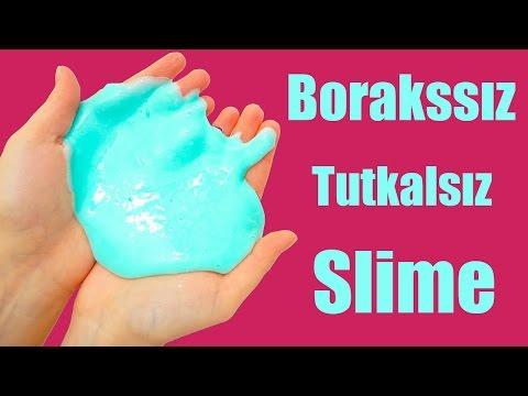 TUTKALSIZ BORAKSSIZ Slime ''Harika Oldu'' Slime Yapımı